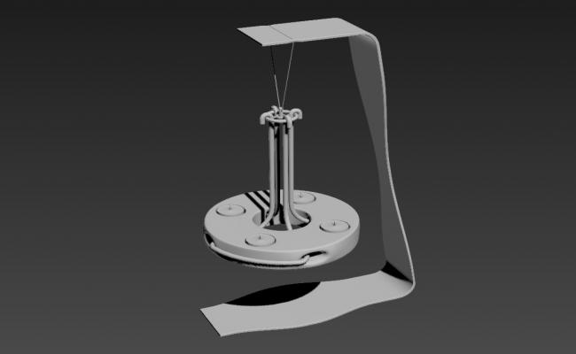 3D MAX File For Hanging Candle Stand Free