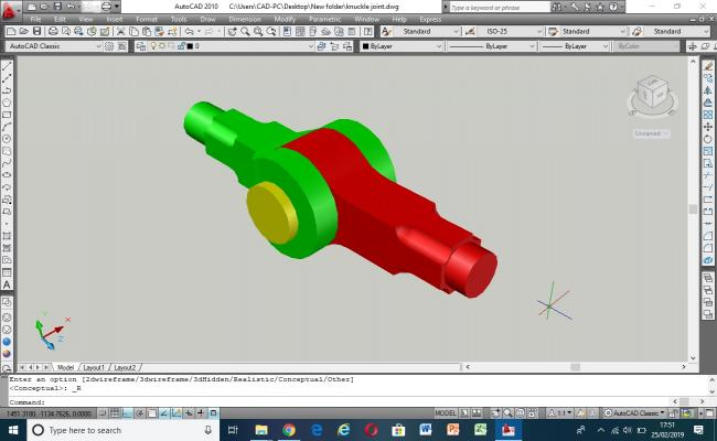 3D Model of Knuckle Joint assembly