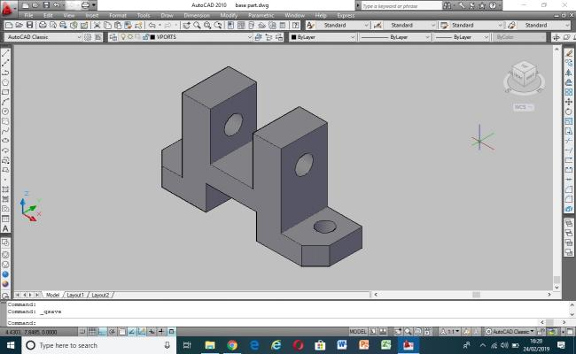 3D Model of mechanical part base