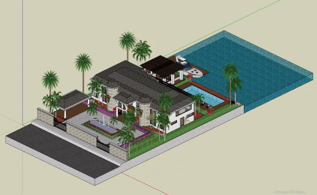 Modern Villa Design 3d model