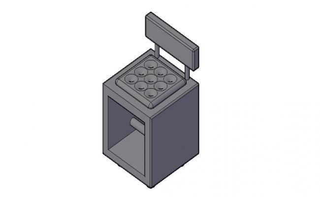 3D Modern Sofa In DWG File