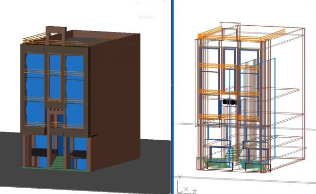 3D Office Building DWG File