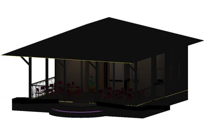 3D Restaurant DWG File Download