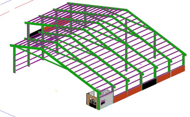 3D Steel Roof Detail