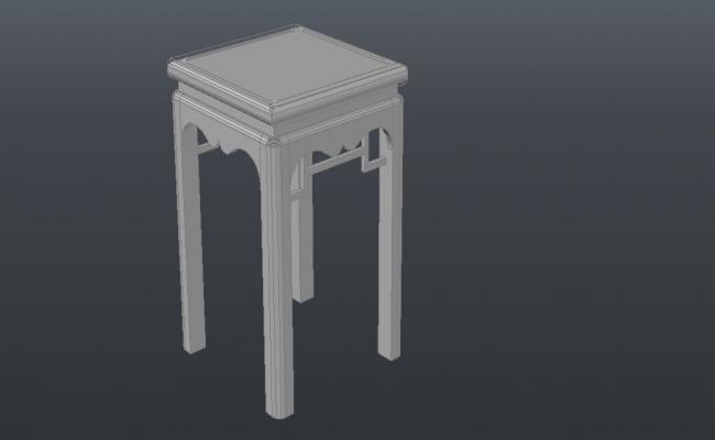 3D Table In AutoCAD File