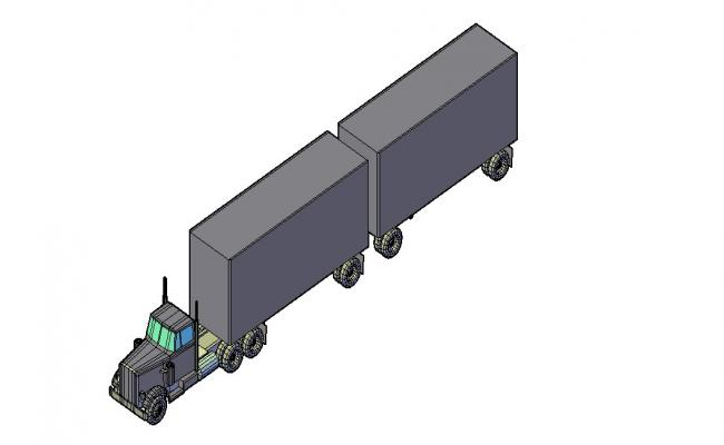 3D Truck Block In DWG File