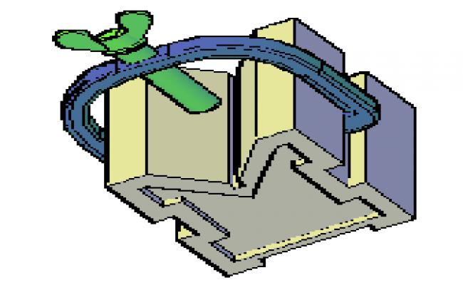 3D V-block design drawing