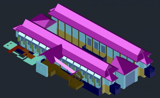3D View Building Construction design