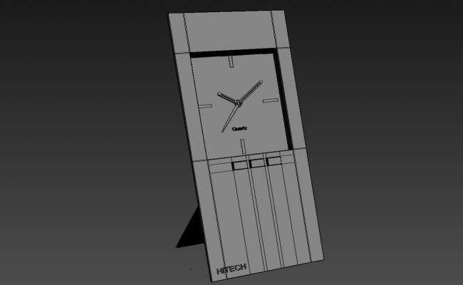 3D Wooden Digital Table Clock 3D MAX File