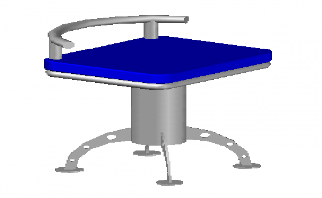 3D chair with materials design for bar used