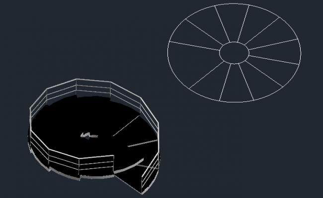 3D circular staircase