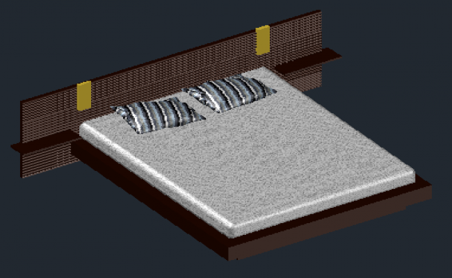 3D desgin drawing of Bed design drawing