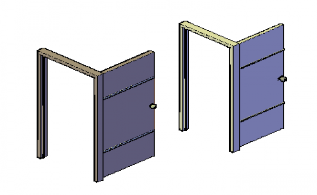 3D design doors drawing