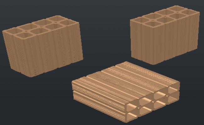 3D design drawing of Brick module