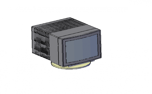 3D design drawing of Computer block