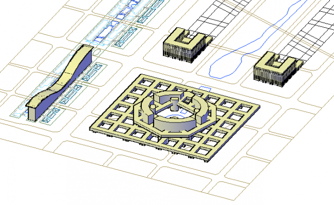 3D design drawing of Industrial area