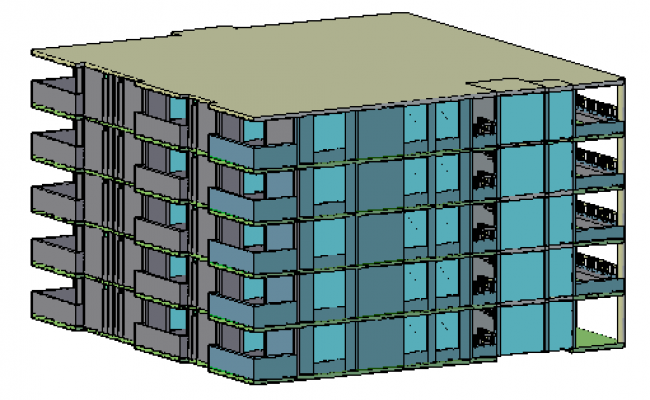 3D design drawing of Multifamily housing design drawing