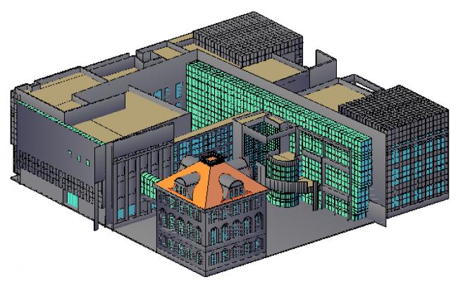 3D design drawing of Museum