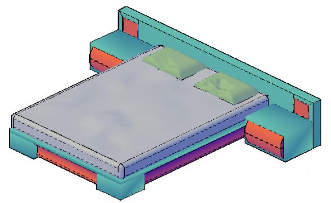 3D design drawing of Sofa design