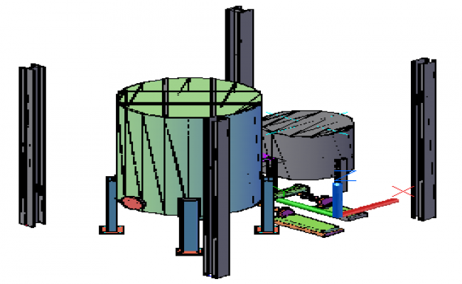 3D design drawing of Tank cap assembly 10000 gls