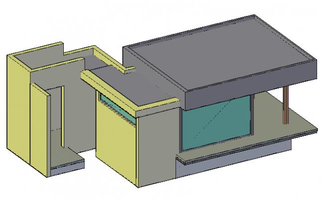 3D design drawing of cottage design drawing