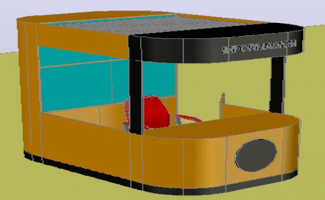 3D design drawing of information kiosks