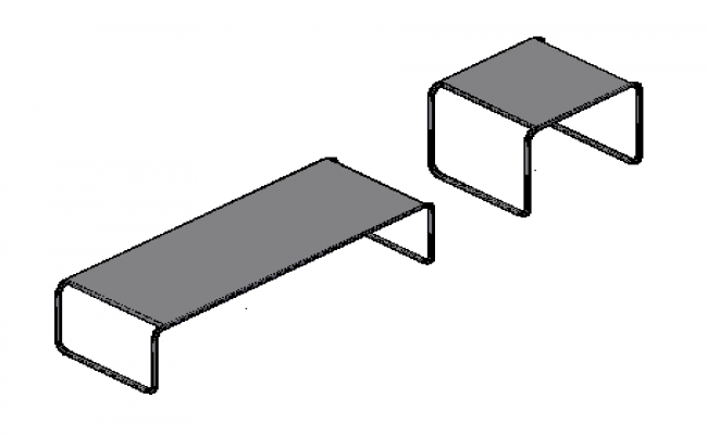 3D design drawing of table with material design
