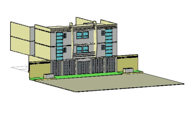 design of apartment building drawing