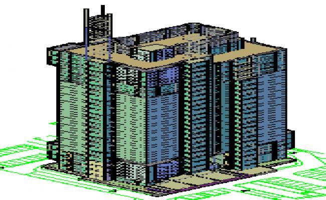 3d design of high rise 4 star hotel design drawing for Design hotel 4 stars