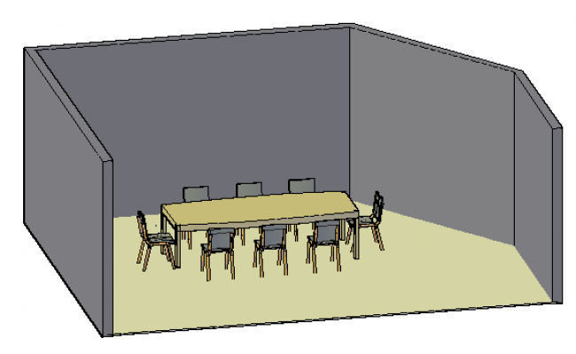 3D design of Meeting room design drawing