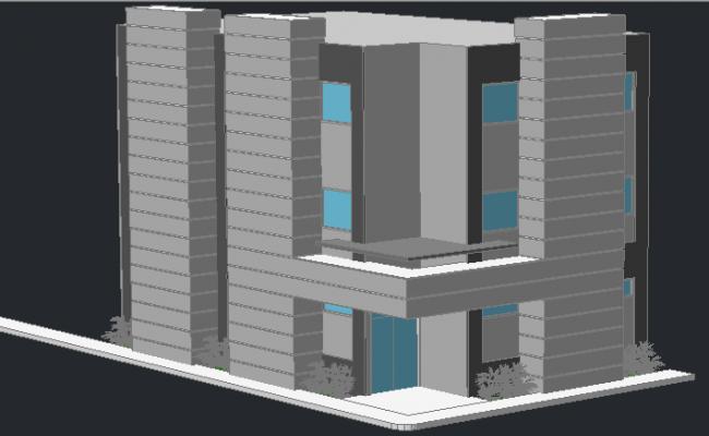 3D design of dental hospital architecture project dwg file
