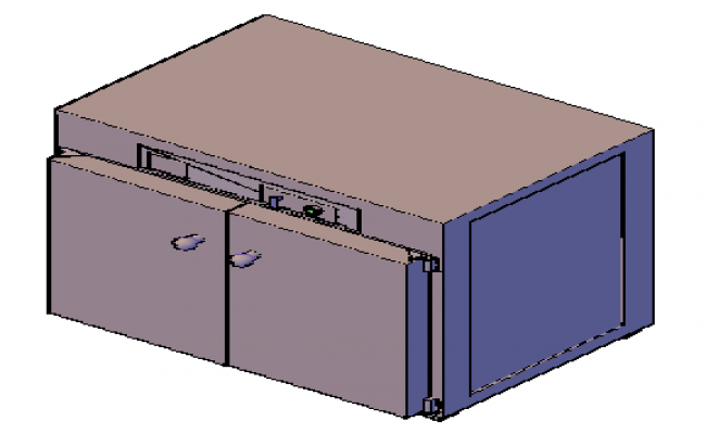 3D design of metal storage used in offices design drawing