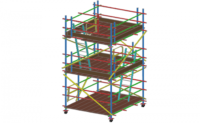 3D design of mobile tower