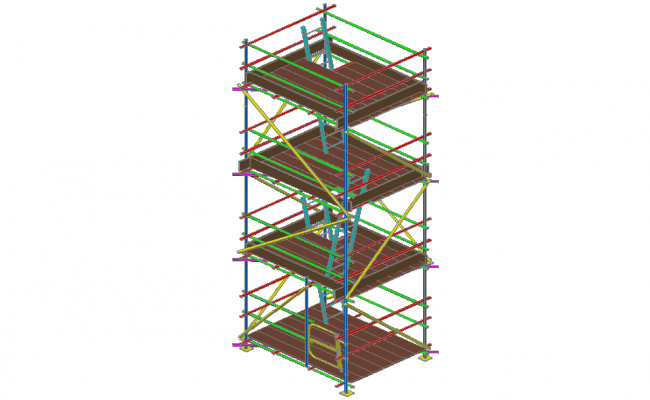 3D design of static tower for 1200x1650 size