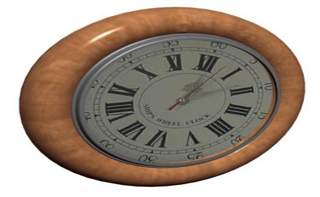 3D design of wall clock design drawing