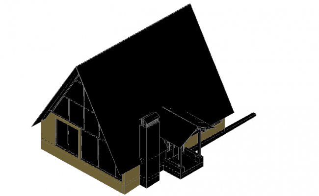 3D detailing of a house dwg file