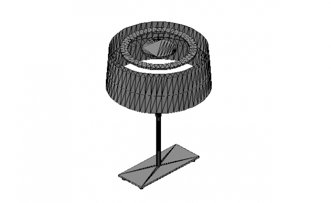 3D details of a  desk Lamp