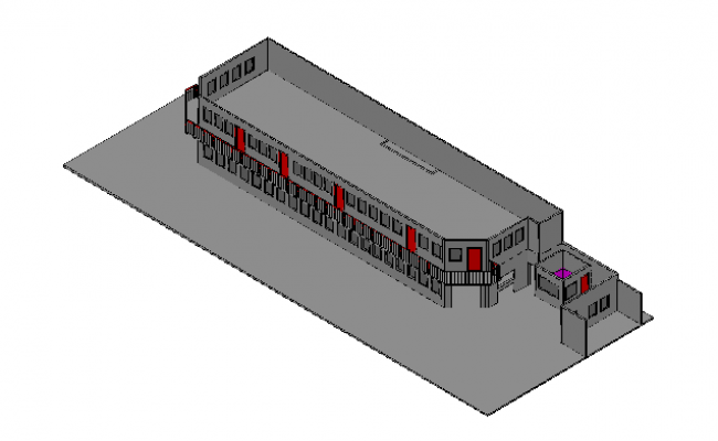 3D details of a college building