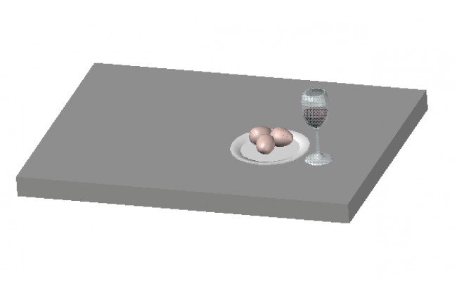 3D drawing of Eggs and wine.