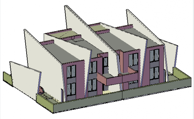 3D drawing of Family house design drawing