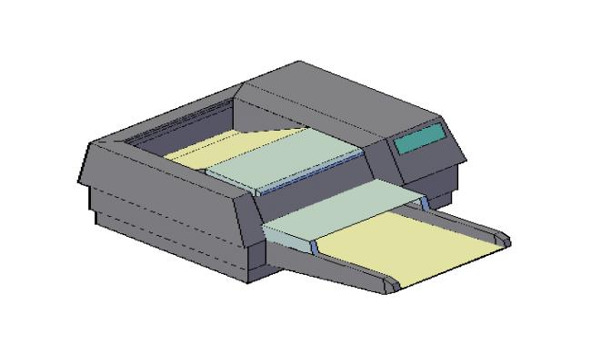 3D drawing of Printer machine drawing