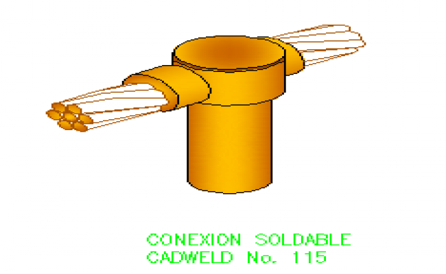 3D drawing of Soldier connection block design drawing