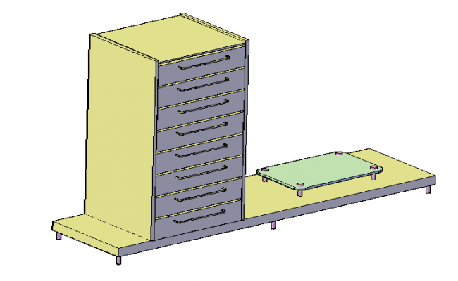 3D drawing of Table tv design