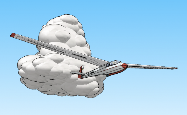 3D drawing of aeroplane in sketchup