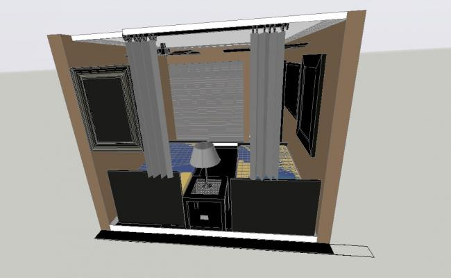 3d Bedroom Layout In AutoCAD File