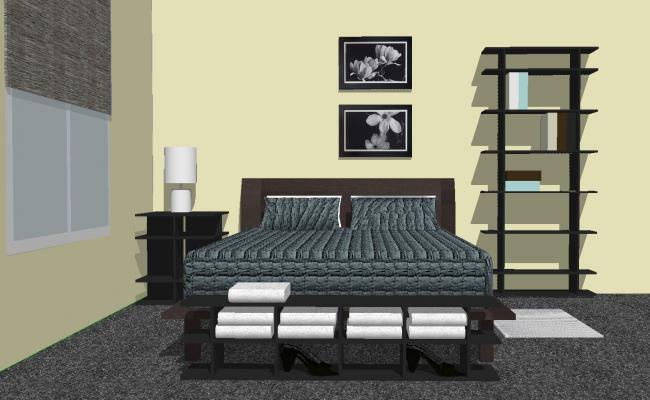 3d Drawing Of Bedroom In Sketchup