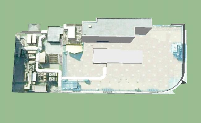 3D drawing of building in SketchUp