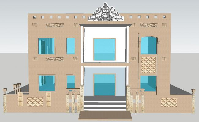 3D drawing of bungalow