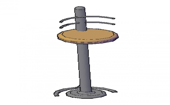 3D drawing of modern chair design