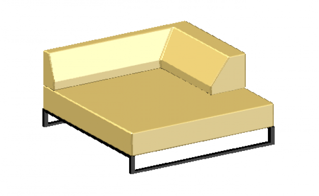 3D drawing of modern chair type single Sofa design